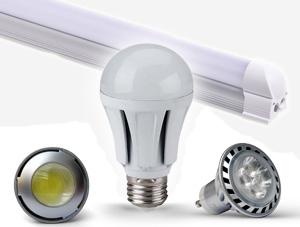 LED žárovky a trubice